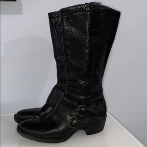Born Black Leather Boots